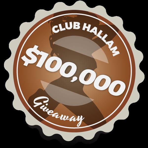 $100,000 Giveaway   Club Hallam
